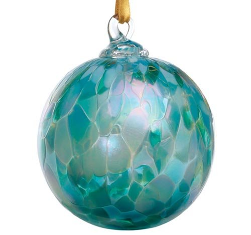 Glass Eye Studio Hand Blown Jade Mosaic Glass Ornament
