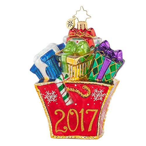 Christopher Radko Presently Shopping 2017 Dated Christmas Ornament – EXCLUSIVE