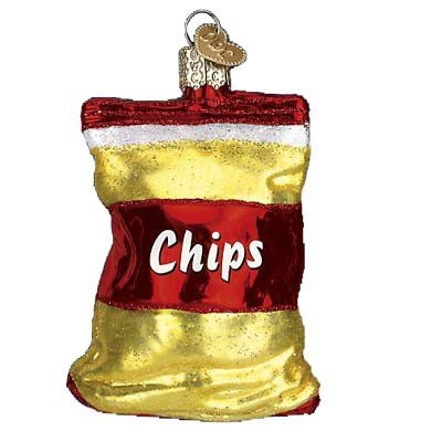 Old World Christmas Bag Of Chips Glass Blown Ornament