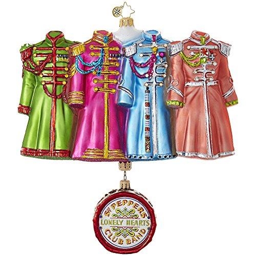 Christopher Radko Sgt. Pepper's Coats The Beatles Christmas Ornament