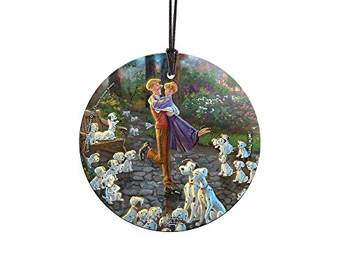 Disney (101 Dalmatians) StarFire Prints Glass Ornament – Home and Christmas Tree Decoration
