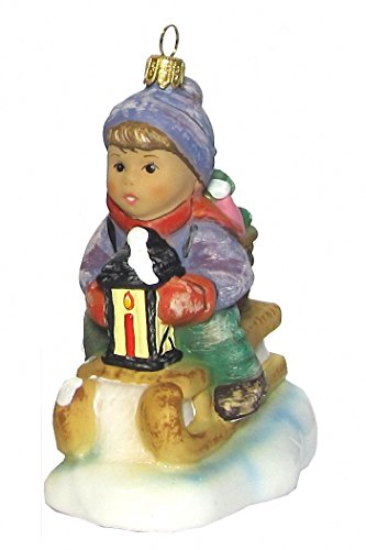 Hummel figurine Christmas ornament Ride into Christmas, original MI Hummel Collection, gift-boxed