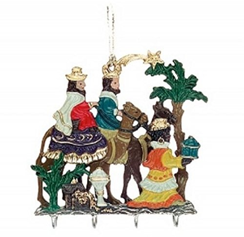 Three Kings with Gifts Christmas German 3D Pewter Ornament Wisemen Decoration
