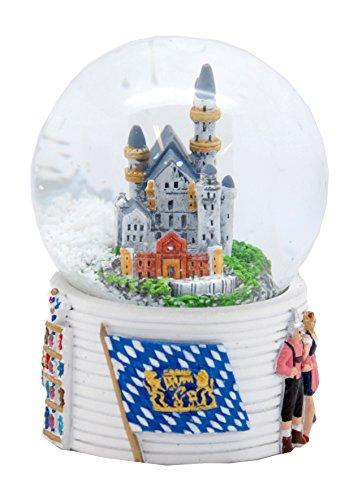30054 Souvenir Snow Globe Germany Newswancastle Bavaria Neuschwanstein Bayern 3.3 Inch.