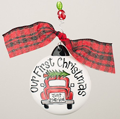 Our 1st Christmas (Just Married) 4″ Puff Christmas Ornament, Glory Haus