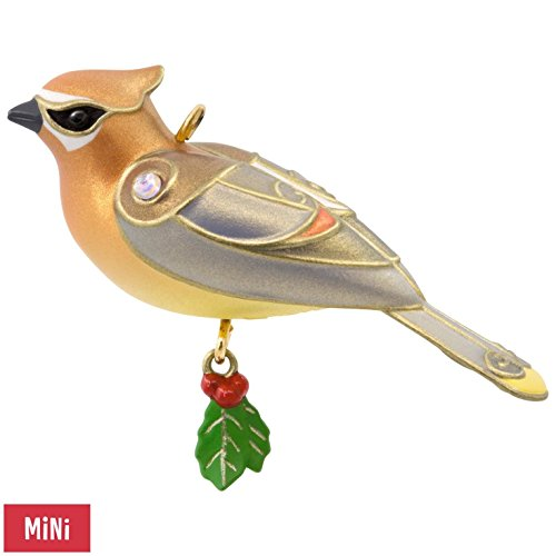 Hallmark Keepsake 2017 Cedar Waxwing Mini Christmas Ornament