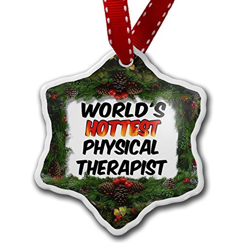 Christmas Ornament Worlds hottest Physical Therapist – Porcelain Ornament, 3-Inch