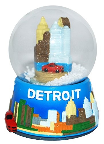 Detroit Michigan Collectible LARGE Snow Globe souvenir featuring the Detroit Skyline