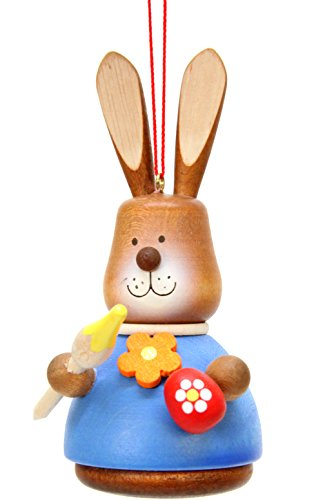 "15-0416 – Christian Ulbricht Ornament – Bunny Artist Painted – 4″""H x 2″""W x 2.5″""D"