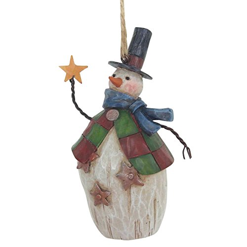Jim Shore Folklore Snowman/Top H Hanging Ornament