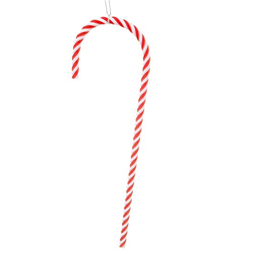 Pack of 2 Red and White Striped Candy Cane Christmas Ornaments 18″