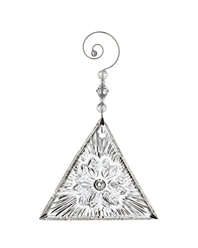 Waterford Crystal 2018 Times Square Gift of Serenity Triangle Christmas Ornament