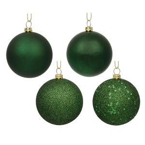 Vickerman 3″ Emerald 4 Finish Ball Ornament 16 per Box