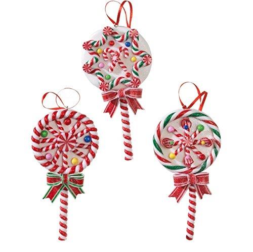 5.5″ Candy Lollipop Ornament Set