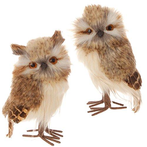 Raz Imports – Brown & White 5.5″ Owl Ornaments