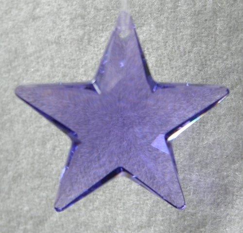Swarovski 28mm Blue Violet Crystal Star Prism