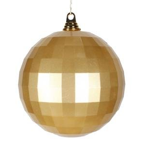 Vickerman 8″ Gold Candy Finish Mirror Ball Christmas Ornament