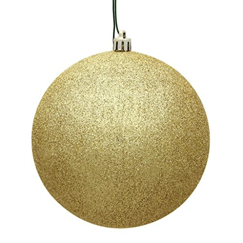 Vickerman 482308 – 3″ Gold Glitter Ball Christmas Tree Ornament (12 pack) (N590868DG)