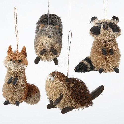 BURI WOODLAND ANIMAL HANGING ORNAMENT – Set of 4