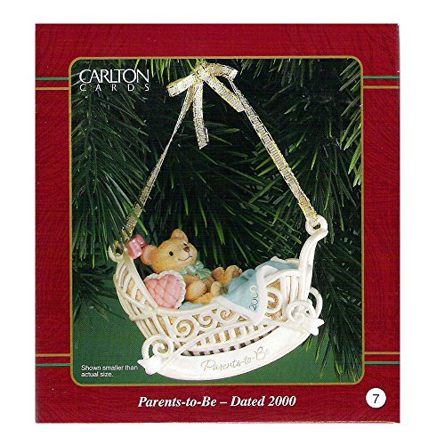 Carlton Cards Heirloom Parents-To-Be Ornament Dated 2000 #CXOR-014C