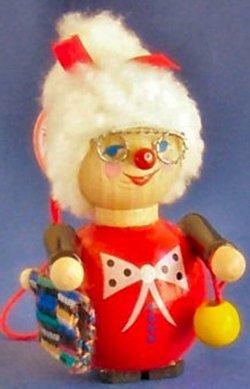 Steinbach Sewing Grandma Wood Christmas Tree Ornament