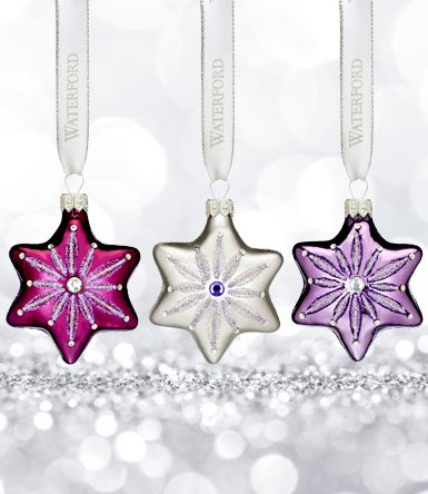 Waterford Sensations Snowflake Ornament Set/3