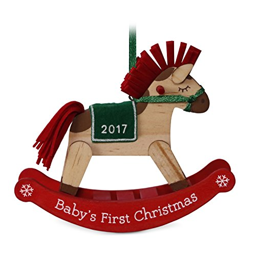 Hallmark Keepsake 2017 Baby's First Christmas Dated Christmas Ornament