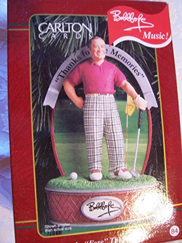 """Bob Hope – Thanks """"Fore"""" the Memories 1999 Musical Carlton Cards Christmas Ornament"""