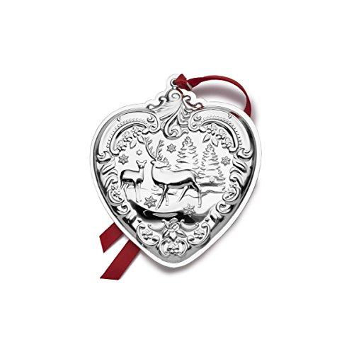 Wallace 2017 Sterling Silver Grand Baroque Heart Ornament, 26th Edition