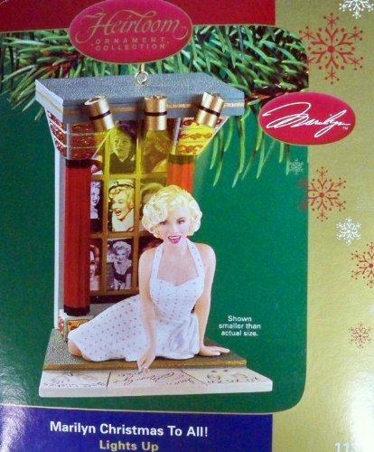 Marilyn Monroe Merry Christmas to All! 2004 Carlton Cards Christmas Ornament