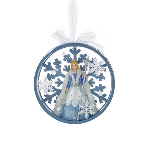 Kurt Adler Snowflake Blue Fairy Princess Disc Ornament – C8952