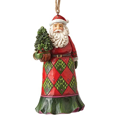 Enesco Jim Shore Heartwood Creek Evergreen Santa Ornament