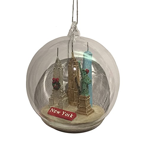 Kurt Adler 4.5″ NYC Landmarks Glass Dome Ornament