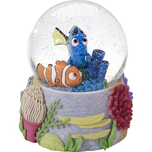 Precious Moments 164705 Finding Dory Resin/GLASS Snow Globe Disney Showcase Collection, Multicolor
