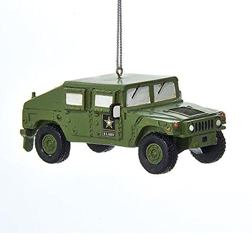 Kurt Adler 3.5″ Resin Army Humvee Christmas Ornament