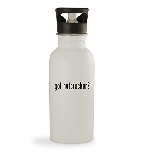 got nutcracker? – 20oz Sturdy Stainless Steel Water Bottle, White