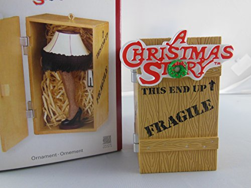 "Carlton Heirloom Collection ""A Christmas Story"" Leg Lamp Holiday Ornament ""A Major Award"" Animated Ornament with recorded lines from the actual"