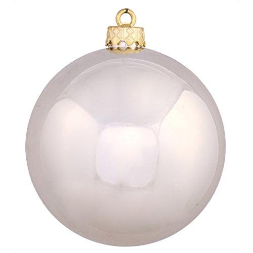 Vickerman 34882 – 3″ Champagne Shiny Ball Christmas Tree Ornament (12 pack) (N590838DSV)