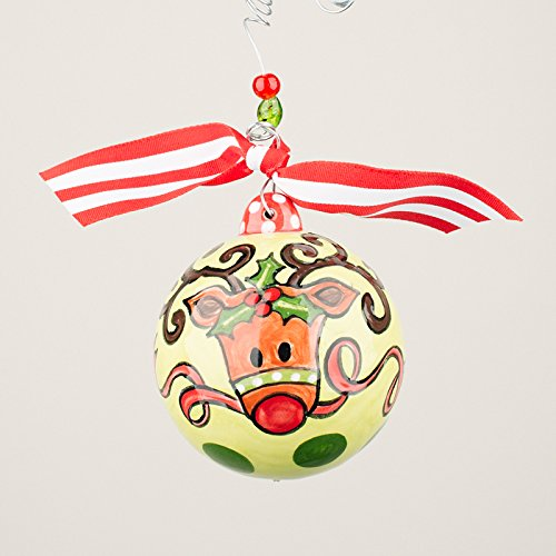 Glory Haus 2090111 Reindeer Ball Chirstmas Ornament