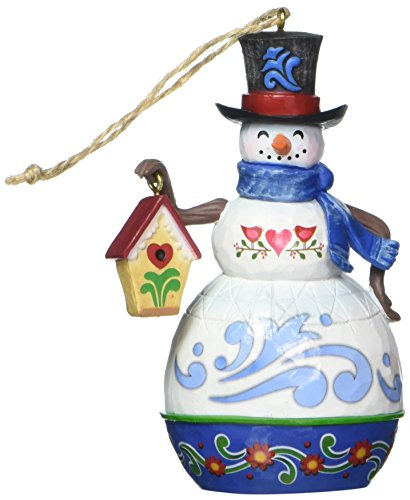 Jim Shore for Enesco Jim Shore Heartwood Creek by Enesco Snowman/Birdhouse Ornament 3.75 In