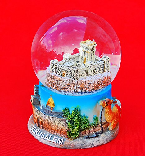 Snowdome Israel Templ of Jerusalem Snowglobe the Mikdash Holyland Souvenir