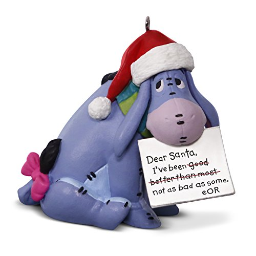Hallmark Keepsake 2017 Disney Winnie the Pooh Eeyore A Letter to Santa Christmas Ornament
