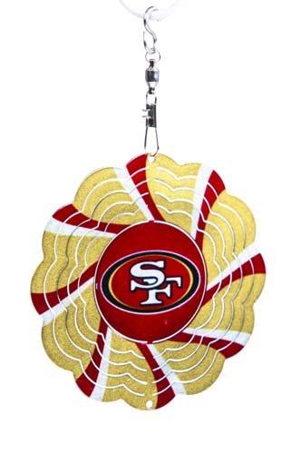 San Francisco 49ers Geo Spinner Christmas Ornament
