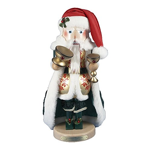 SIGNED 2012 Steinbach Wooden *Christmas Cheer Santa* Nutcracker 7th in the Christmas Traditions Series, LE