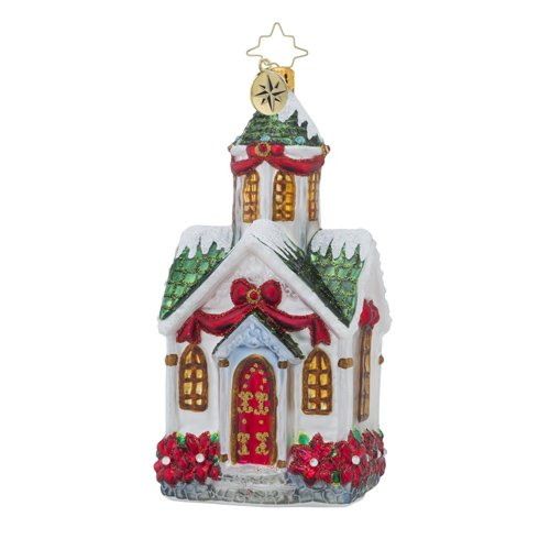Christopher Radko Beautiful Bethel Church Christmas Ornament