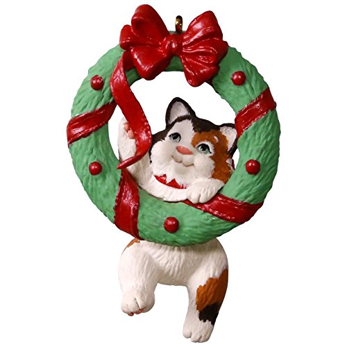 Hallmark Keepsake 2017 Mischievous Kittens Wreath Christmas Ornament