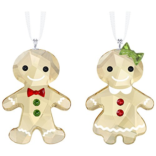 Swarovski Gingerbread Couple Ornaments
