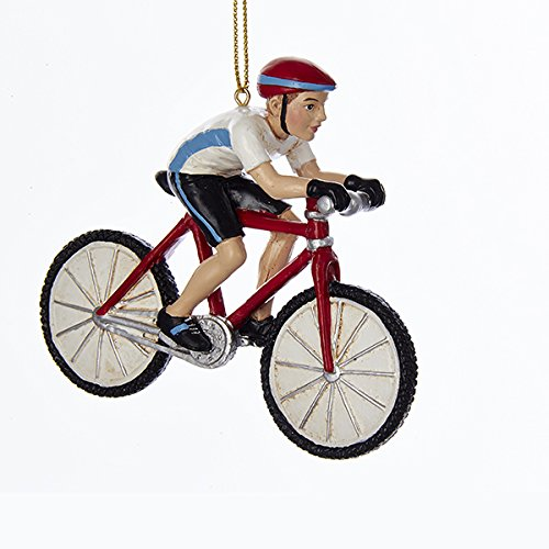 Kurt Adler 4-Inch Resin Cyclist Christmas Ornament