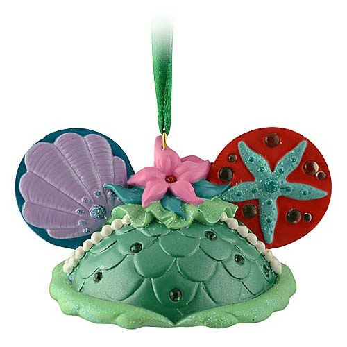 Disney Ariel Mickey Mouse Ears Hat Ornament