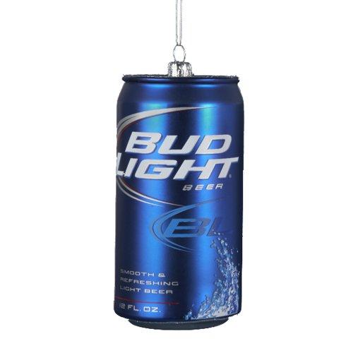 Kurt Adler 4-3/4-Inch Bud Light Beer Can Glass Ornament